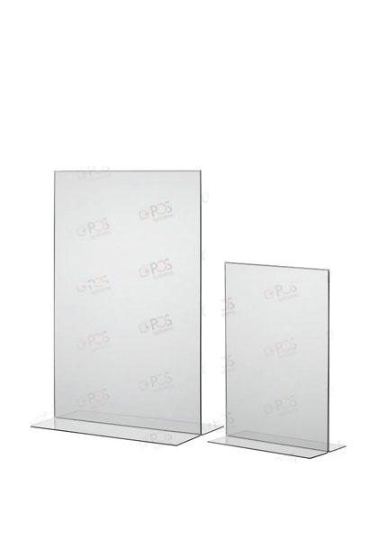 Подставка под информацию из акрила вертикальная (менюхолдер, тейбл-тент)