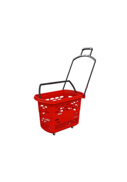 Покупательская корзина на колесиках